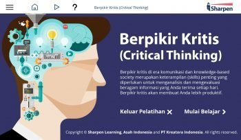Sharpen E-learning: Berpikir Kritis (Critical Thinking)